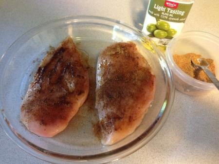 Chicken Tortilla Soup - spices on chicken