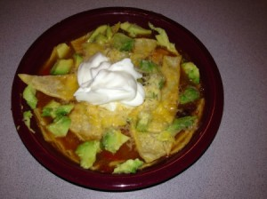 Chicken Tortilla Soup - add toppings