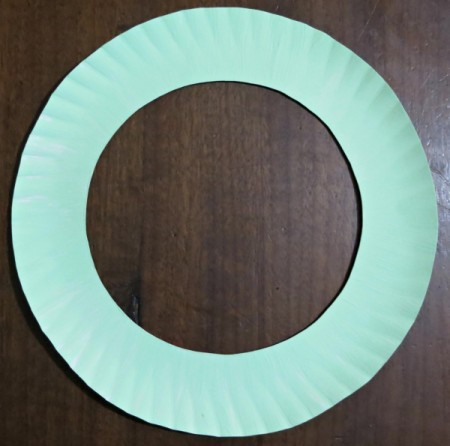 cut and painted plate