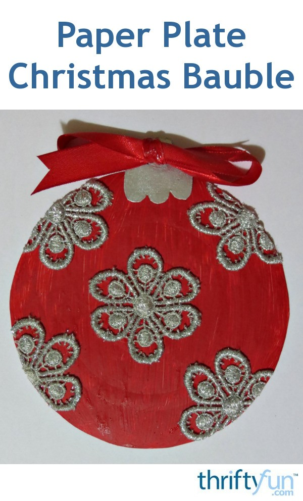 Making A Paper Plate Christmas Bauble Thriftyfun