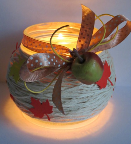 lighted jar candle