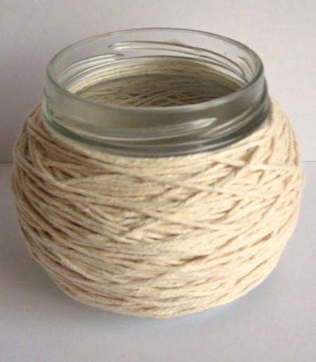jar wrapped with twine