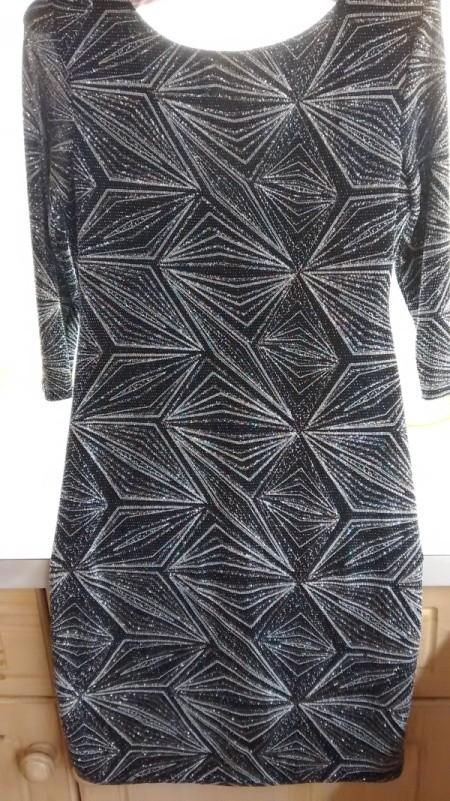 black dress with glitter pattern