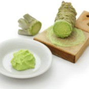 wasabi horseradish and paste
