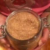 A jar of homemade taco seasoning