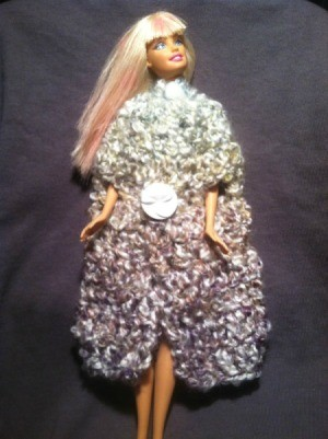 Barbie wearing cloak