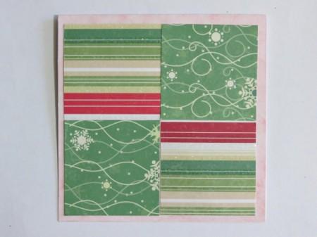 step 3 gluing four paper squares