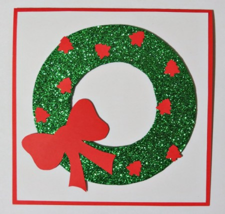 wreath with trees and bow added