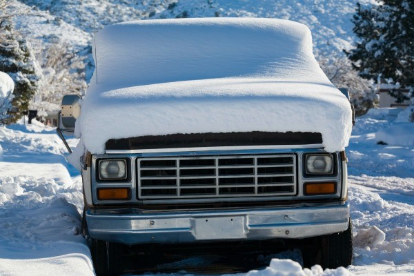 Snow Covered Truck