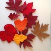 scatter of finished felt leaves