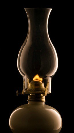 Photo of an oil lamp