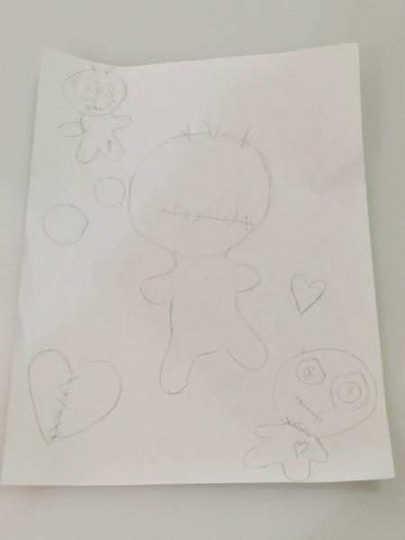 draw doll templates