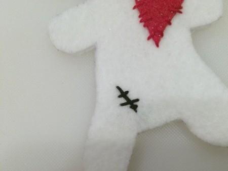 stitch details on doll