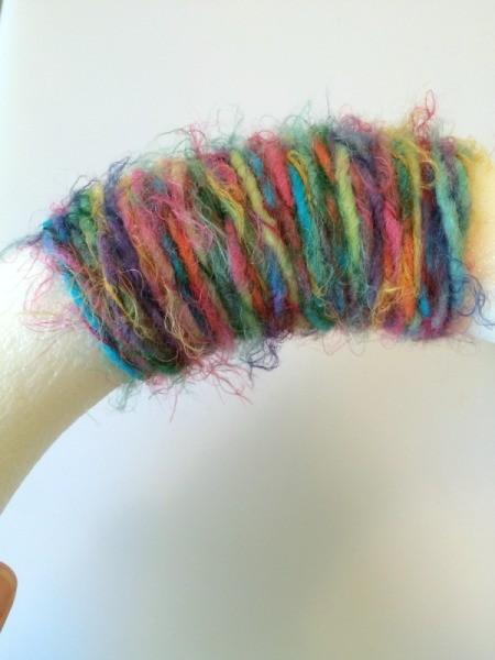wrap wreath with yarn 1