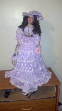 doll in lavender dress