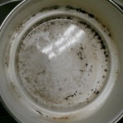 pot with burnt food