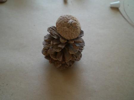 step 1 gluing on acorn cap