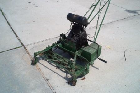 old reel mower