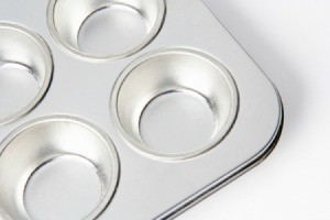 partial view of muffin tin