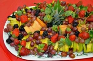 Christmas fruit tray