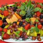 Christmas fruit tray