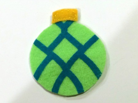 blue and green ornament
