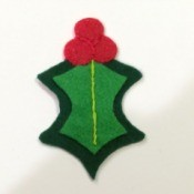 Felt Holly Ornament