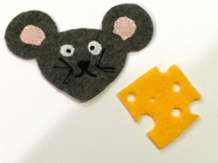 Felt Mouse and Cheese Ornament
