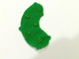 Felt Pickle Ornament
