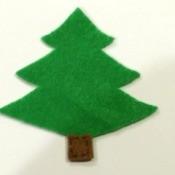 felt xmas tree