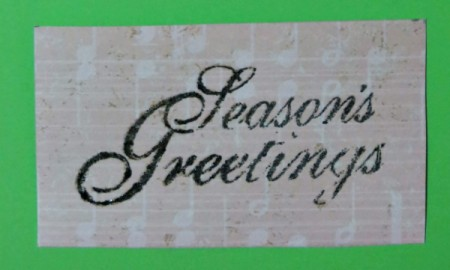 season's greetings with embossing