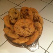 A plate of choco-nilla cookies.