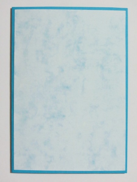 light blue card stock glued on