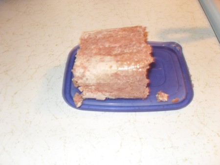Cutting Canned Corned Beef