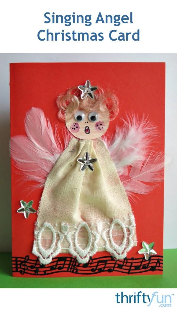Singing Angel Christmas Card Thriftyfun