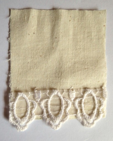 lace attached to linen
