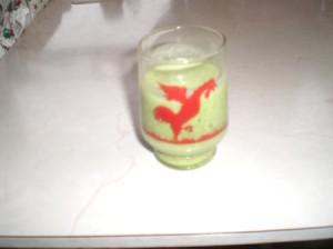 glass of veggie juice