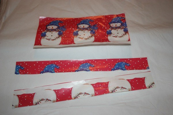 Strips of wrapping paper