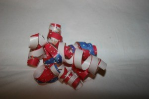 A finished bow from your wrapping paper