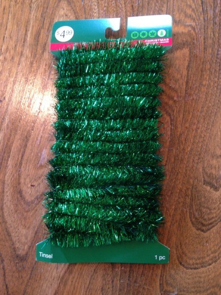 role of green wired tinsel