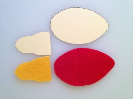 template and felt shapes