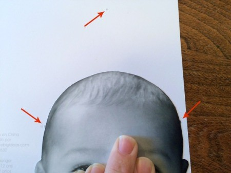 Baby Faces Birthday Banner - make marks for hat