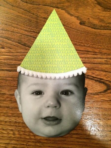 Baby Faces Birthday Banner - add hat trim
