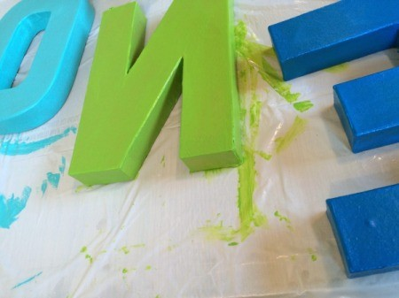apply paint to letters 3