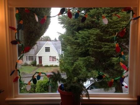garland around window