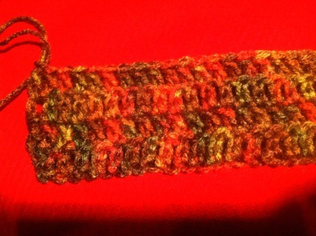 step 3 - body of scarf