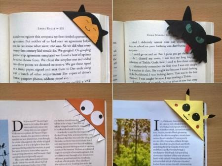 4 cute corner bookmarks
