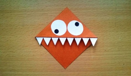 A cute monster corner bookmark