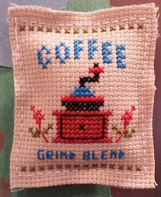 coffee cross stitch pattern worked up
