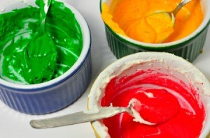 Colored Cake Frosting